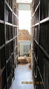 Часть библиотечных книг написанных шрифтом Брайля