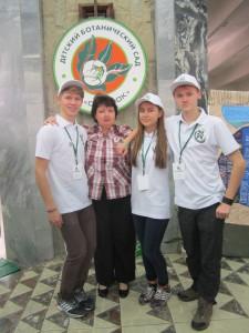 команда Воронежской области на съеде школьных лесничеств